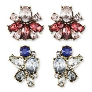 Sugarfix BaubleBar Flower Crystal stud earrings